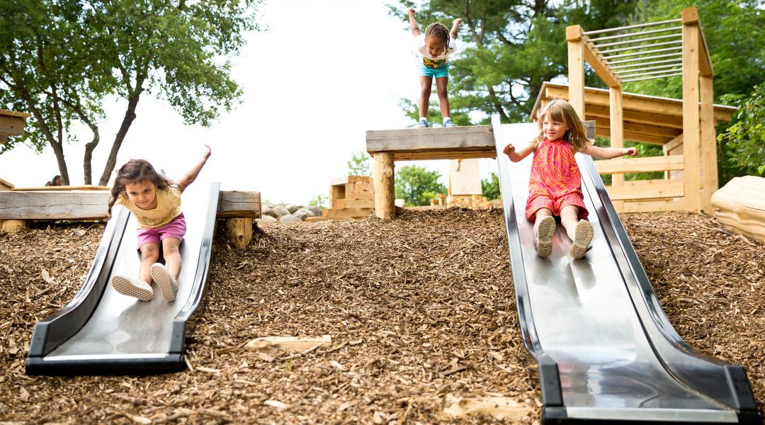 Kids park slides